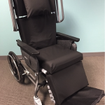 Longer patient sitting times require more robust wheelchair cushion systems. This reclining geri-chair features welded cushions from Alpha Tekniko.